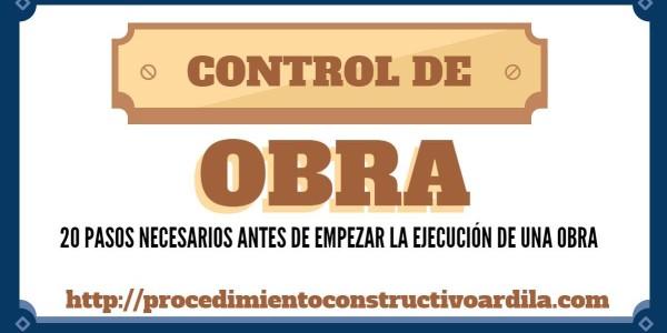 PORTADA CONTROL DE OBRA EN 20 PASOS DESDE EL INICIO