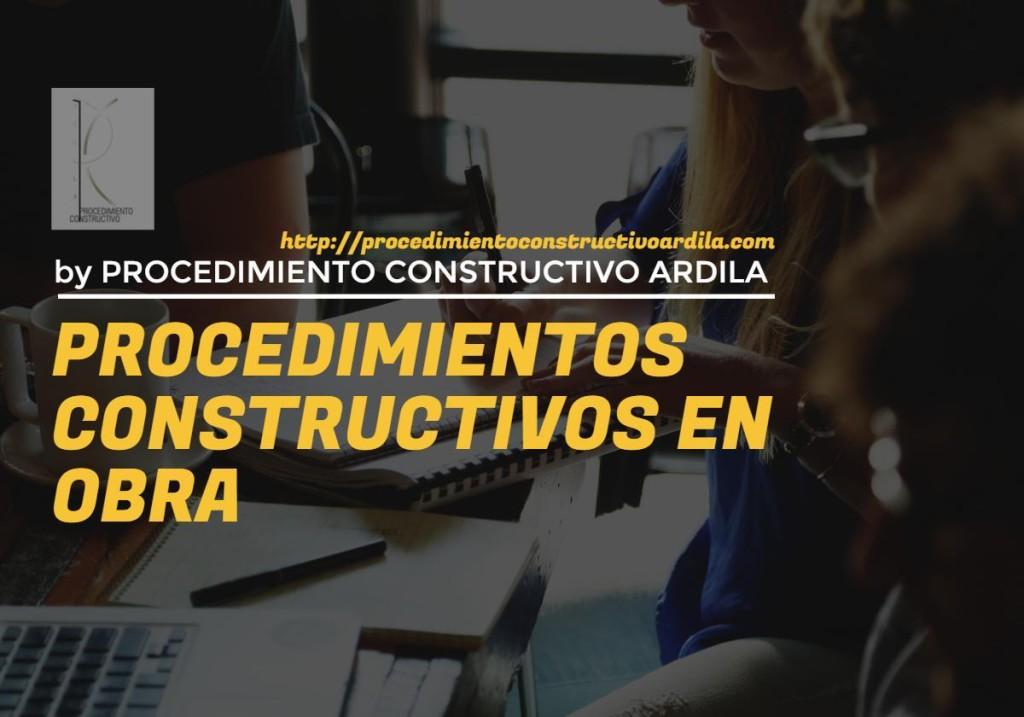 CARATULA DE PROCEDIMIENTOS CONSTRUCTIVOS EN OBRA