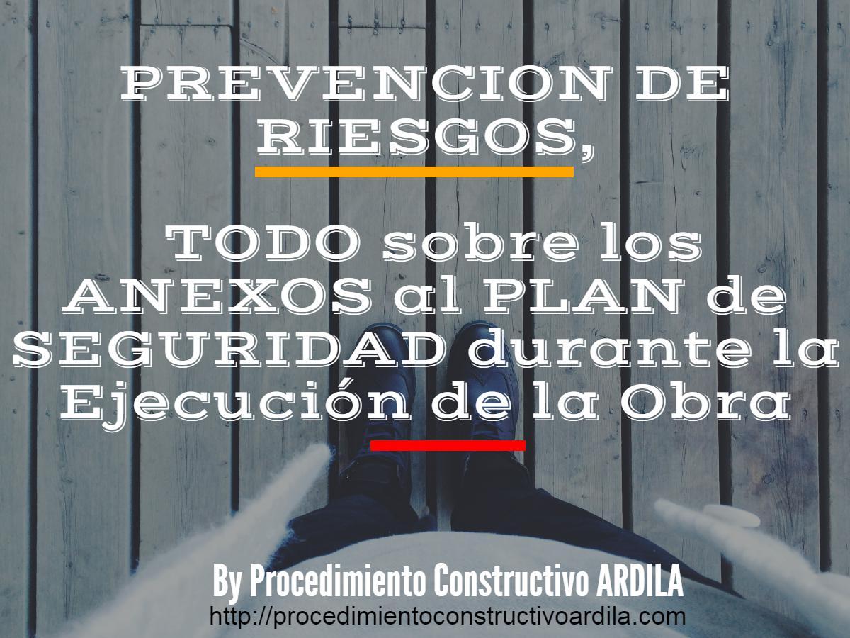 ANEXOS Y PREVENCION DE RIESGOS