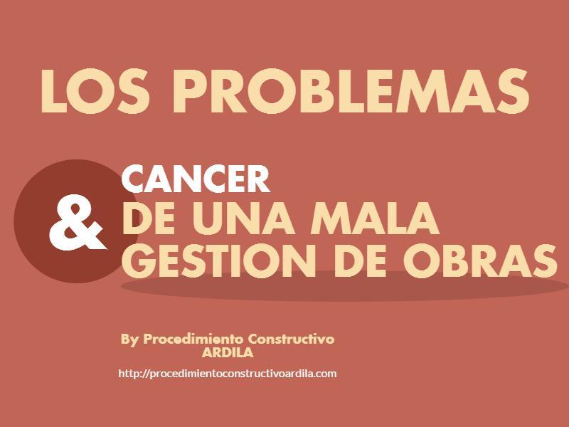 MALA GESTION DE OBRAS PROVOCA ENFERMEDADES EN LA MISMA