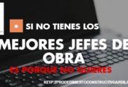 FORMACION BONIFICADA PARA JEFE DE OBRA
