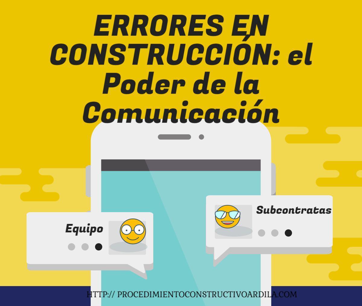 PORTADA ERRORES EN CONSTRUCCIÓN CÓMO EVITAR GRAN PARTE MEJORANDO LA COMUNICACIÓN