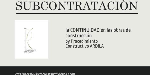 PORTADA SUBCONTRATACIÓN Y CONTINUIDAD