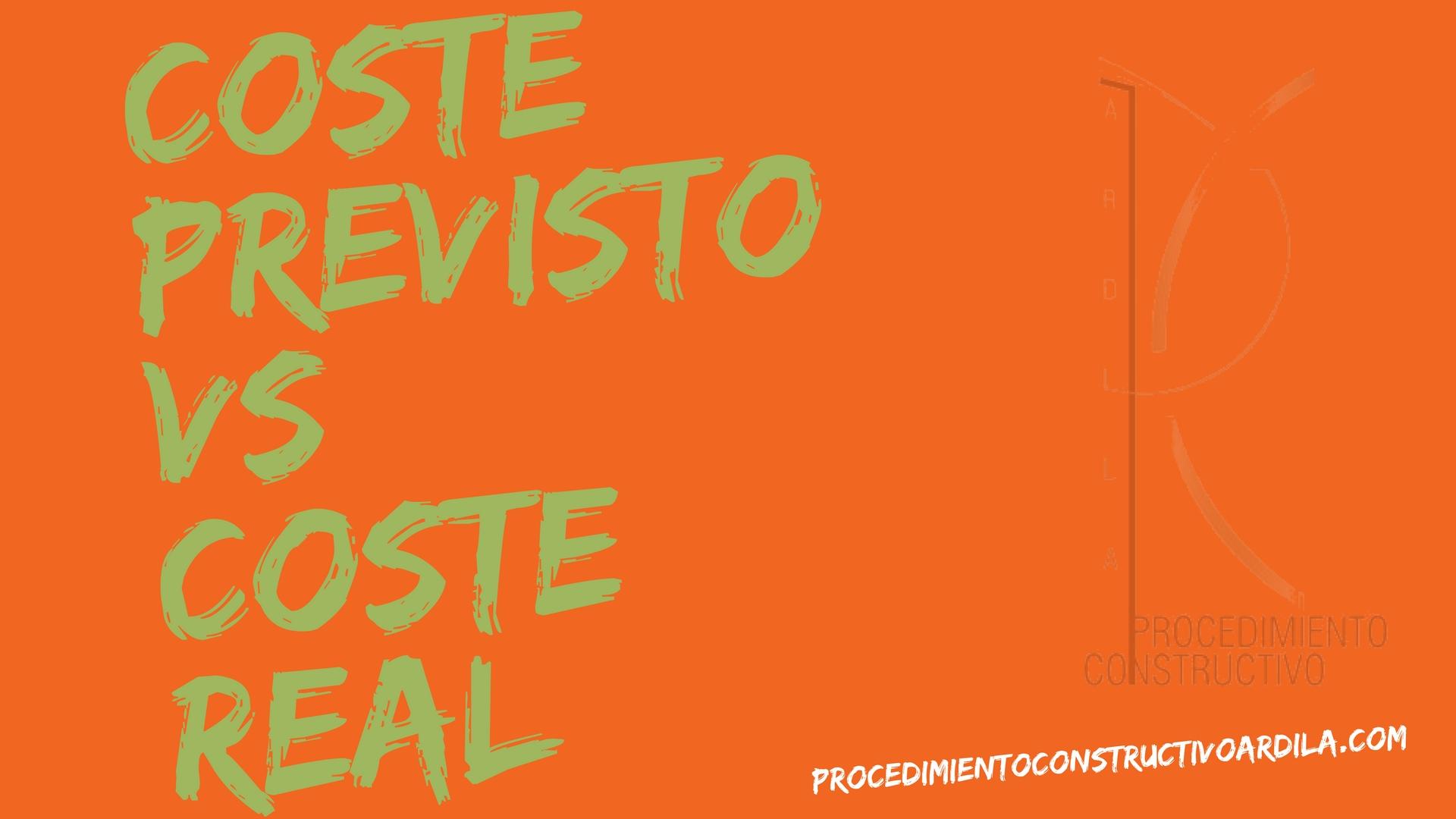 REVISAR EL COSTE PLANIFICADO DE LA OBRA